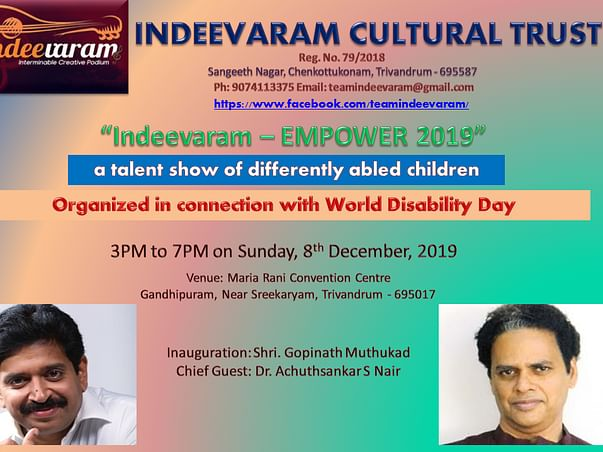 Empower differently abled children to showcase their talent