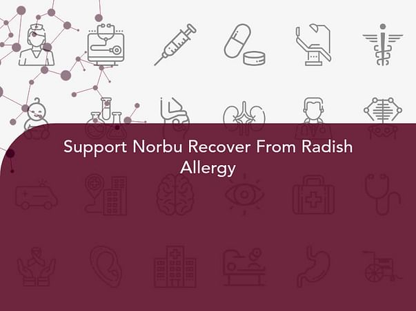 Support Norbu Recover From Radish Allergy