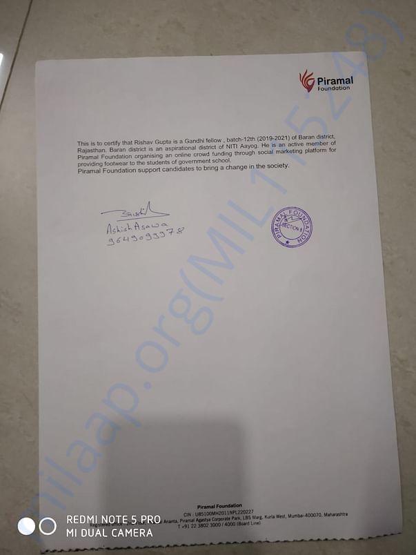 piramal's letter