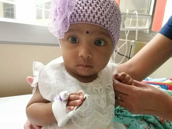 8 Months Old Rafeea Fatima Needs Your Help to Recover From Liver Failure.