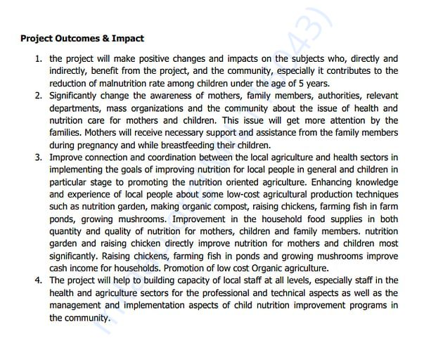 Project Outcomes & Impact