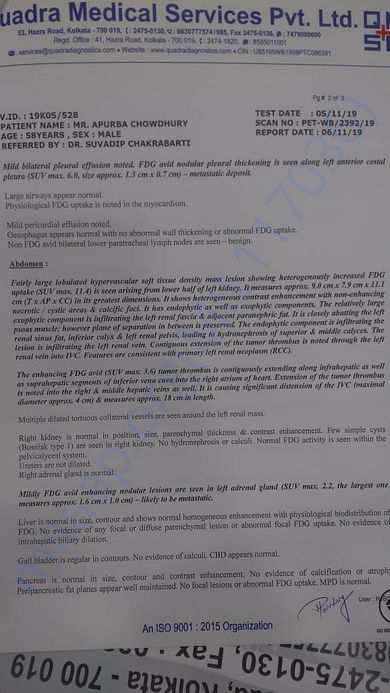 PET SCan Report Page 2