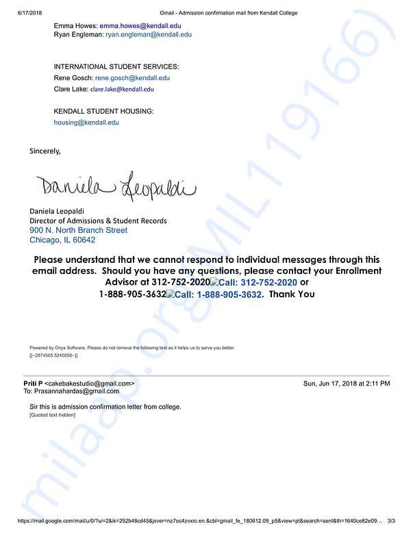 Admission letter 3
