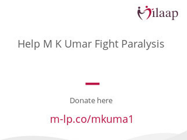 Help M K Umar Fight Paralysis