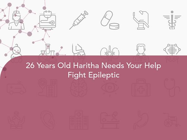 26 Years Old Haritha Needs Your Help Fight Epileptic