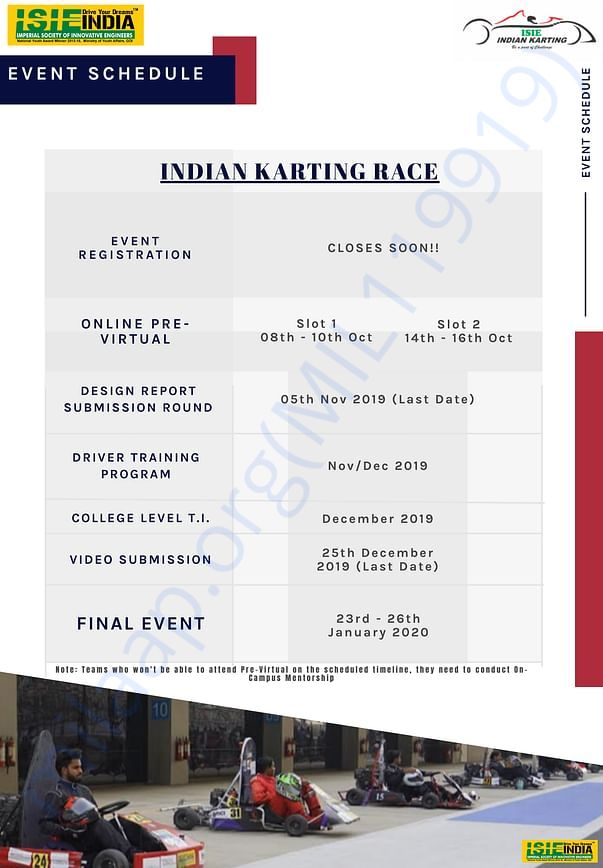 Schedule for the event