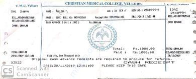 Hospital prescription