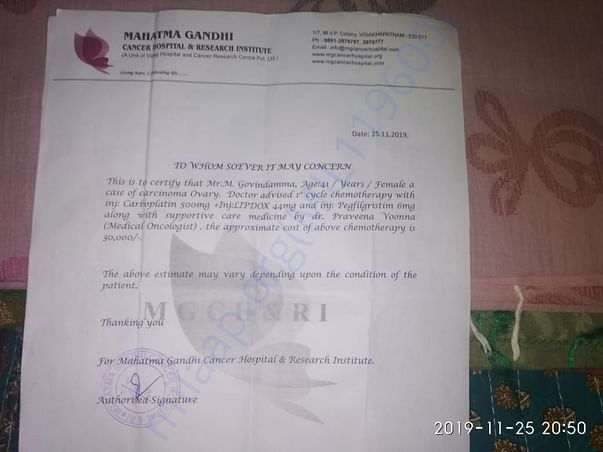 Doctor Reference letter of the patient
