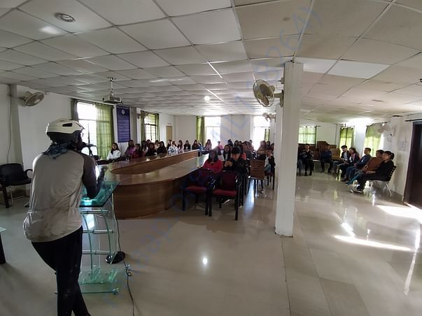 Giving awareness on plastic in Nagaland University
