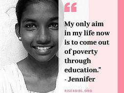 Rise4Girl - Help girls like Jennifer go to school!
