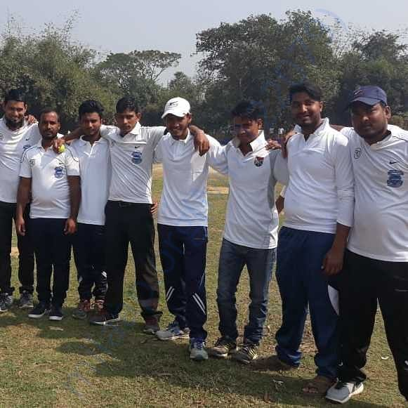 Members of the club and the cricket team