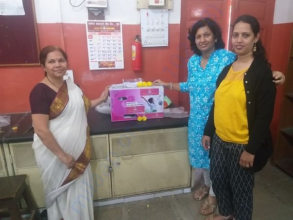 Vending machine installed at Bharat Highschool, Pune