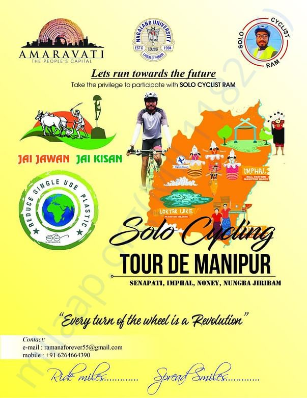 SoloCycling on REDUCE SINGLE USE PLASTIC in Manipur