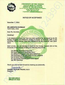 Acceptance Notice