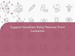 Support Goutham Kaloji Recover From Leukemia