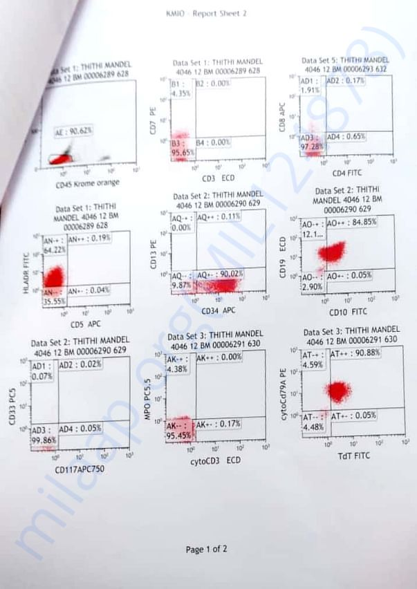 Blood test report