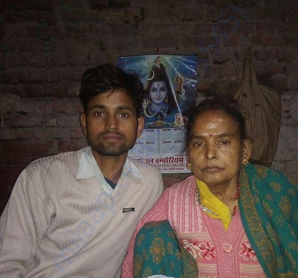 Shanti Devi(mom) and me(son)
