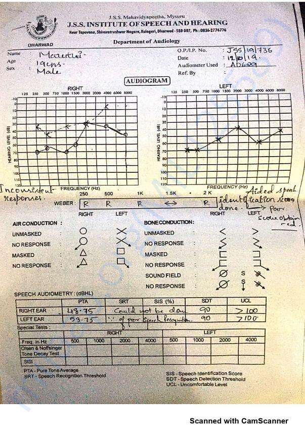 Audiogram Report