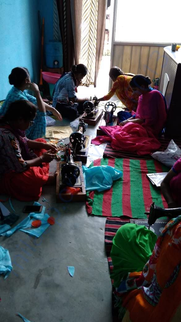 Stitching course to needy for self employement