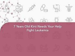 7 Years Old Kirti Needs Your Help Fight Leukemia