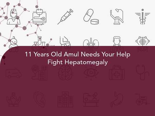 11 Years Old Amul Needs Your Help Fight Hepatomegaly