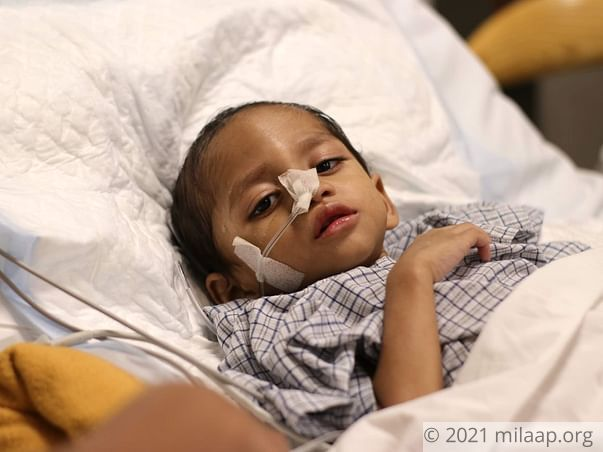 Shourya is in the ICU and his condition is worsening.