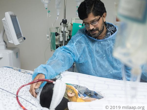 Ashritha is on ECMO machine fighting for her life