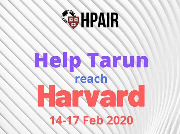 Help Tarun Reach Harvard