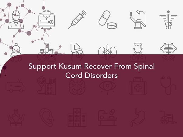 Support Kusum Recover From Spinal Cord Disorders