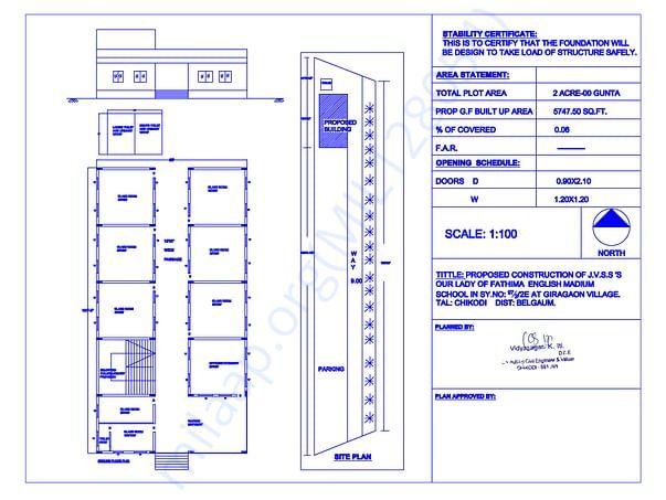 Blueprint of the School Buiding