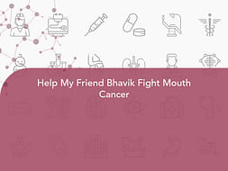 Help My Friend Bhavik Fight Mouth Cancer