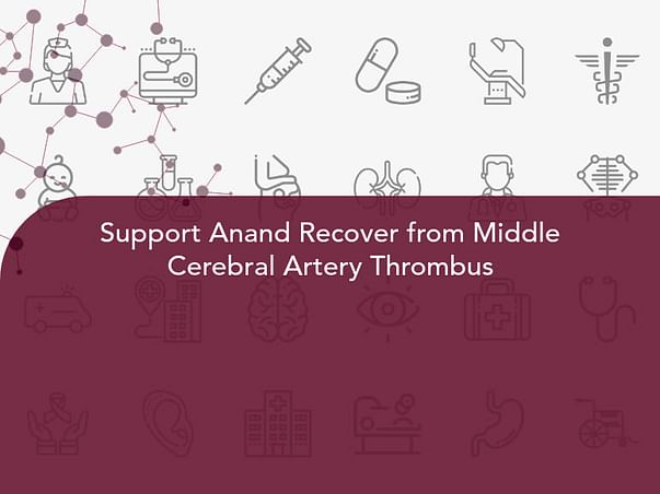 Support Anand Recover from Middle Cerebral Artery Thrombus