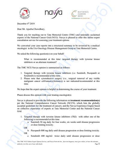 TMC Mumbai Prescribed Report
