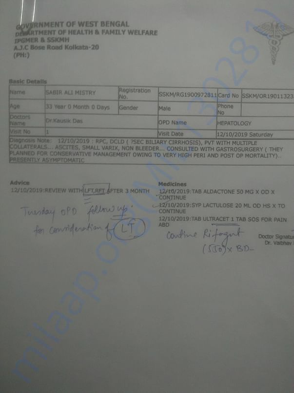 This is medical prescription which proof my medical treatment