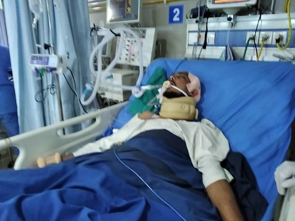 Help my brother fight Road traffic accident with polytrauma