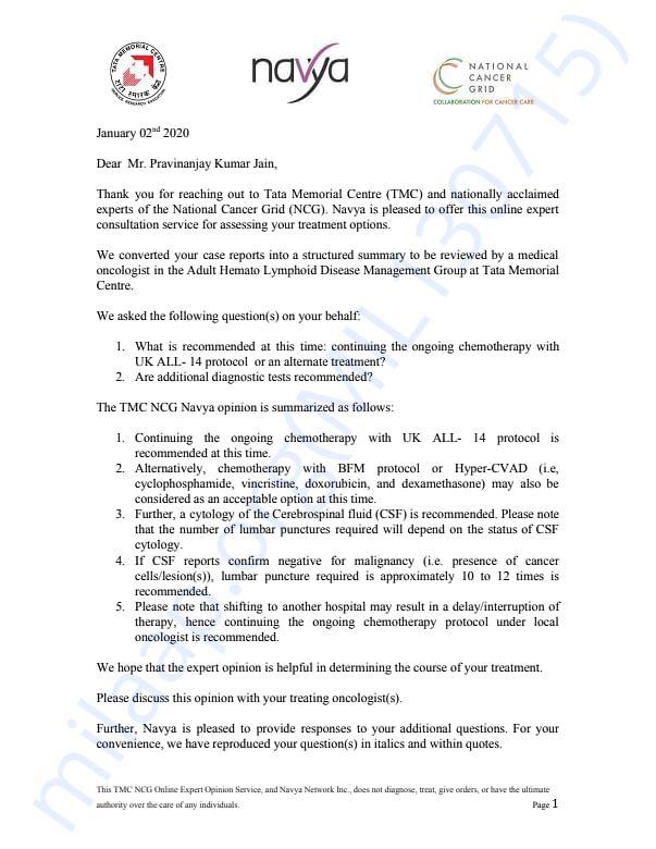 Tata Memorial Reports