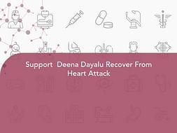 Support  Deena Dayalu Recover From Heart Attack