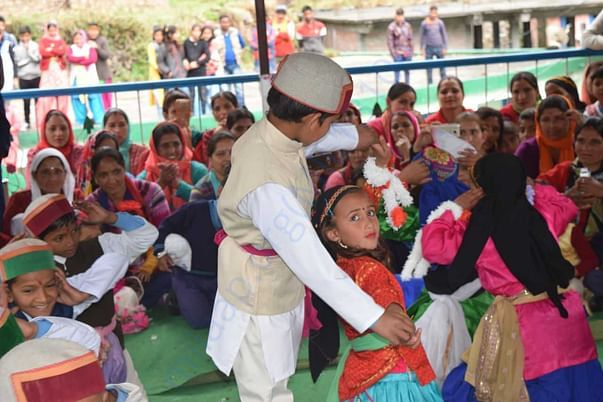 our school students with Culture of uttarakhand