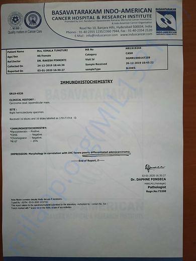 Treatment Report IHC