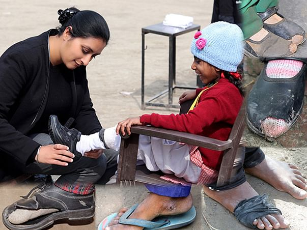 Help us to provide shoes to the underprivileged.
