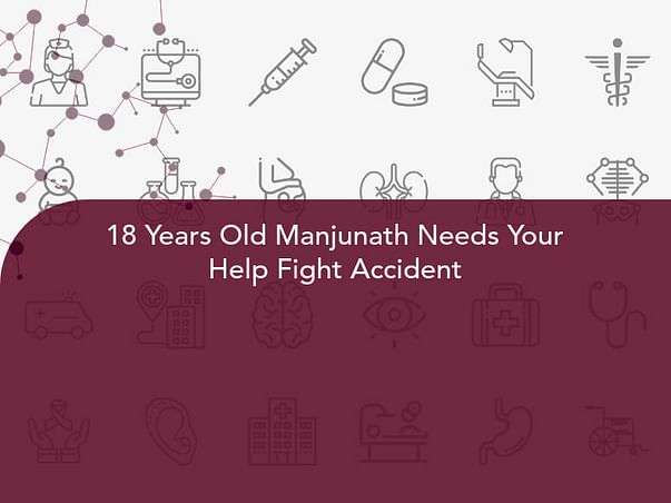 18 Years Old Manjunath Needs Your Help Fight Accident