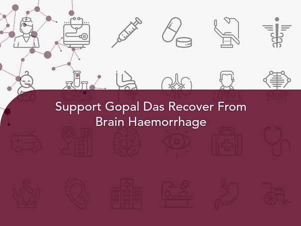 Support Gopal Das Recover From Brain Haemorrhage