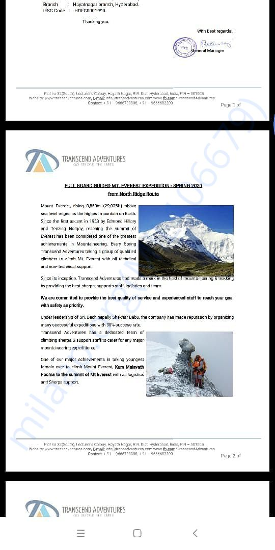 Invitation for climbing Mt Everest - Page 2