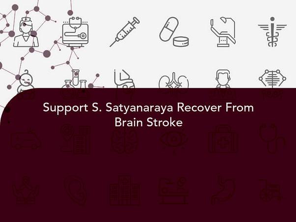 Support S. Satyanaraya Recover From Brain Stroke