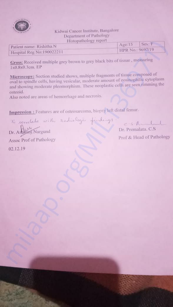 Biopsy Test report