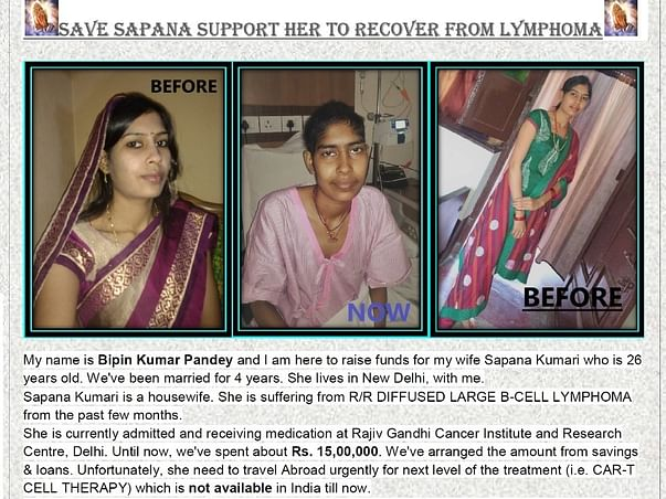 SaveSapana support to Recover From Lymphoma