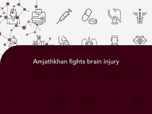 Amjathkhan fights brain injury