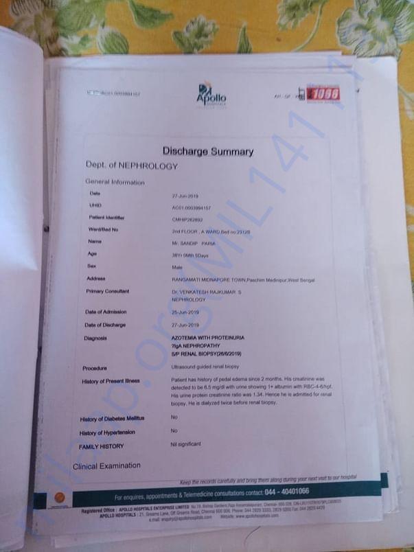 Apollo Hospital Discharge details