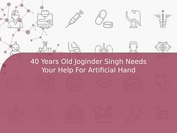 40 Years Old Joginder Singh Needs Your Help For Artificial Hand