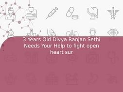 3 Years Old Divya Ranjan Sethi Needs Your Help to fight open heart sur